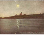 1900s c Postcard Moonlight